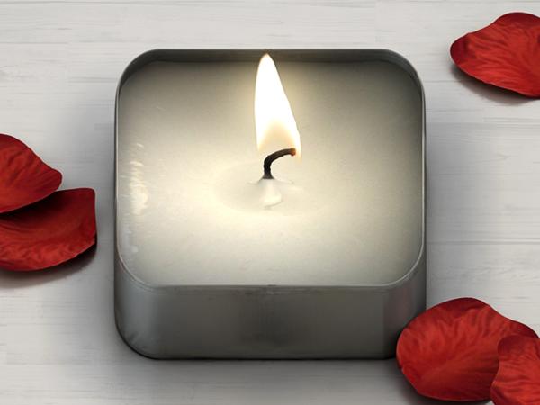 白色蜡烛图标UI设计