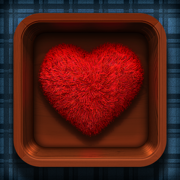 3枚超赞的心形图标设计 - 手机图标