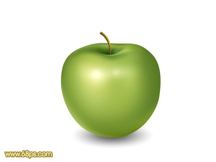 Photoshop设计制作漂亮的青苹果