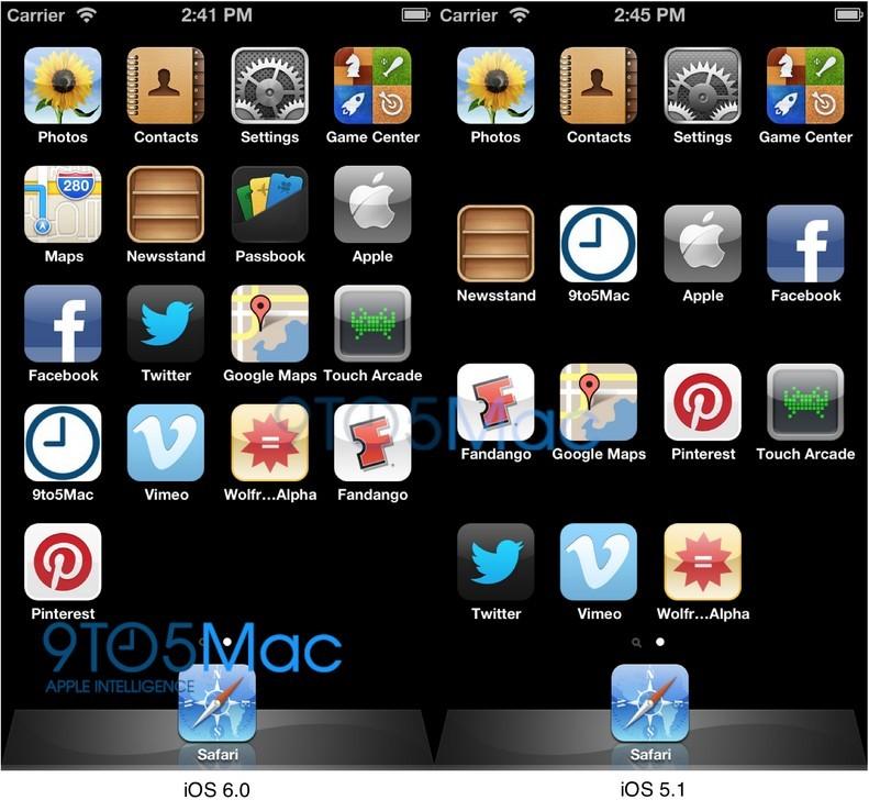 iPhone 5分辨率为 640*1136 新界面排5行图标