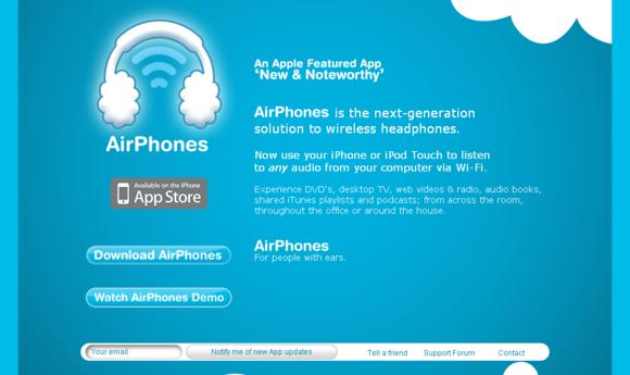 57个关于iphone和ipad应用程序的网页设计