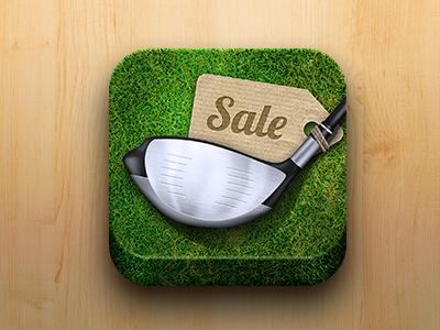 高尔夫球图标设计