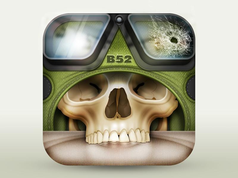 头盖骨骷髅图标icon