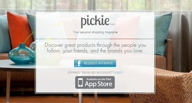 iPad购物应用——Pickie