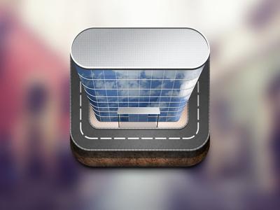 高楼ICON图标UI设计