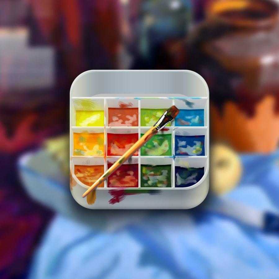 水分颜料盒icon一枚