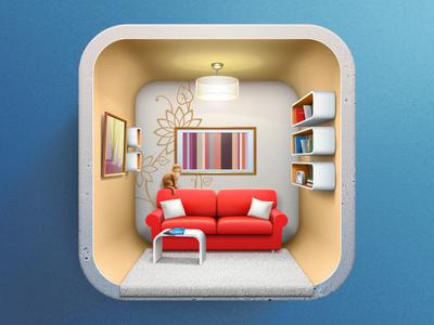 室内设计应用图标设计