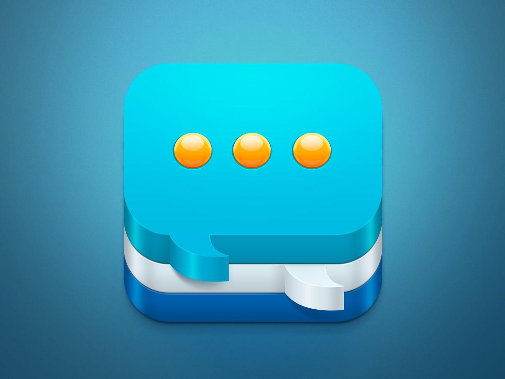 聊天iOS图标设计