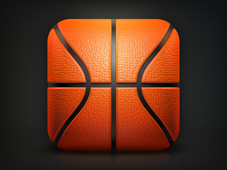 iOS蓝球图设计