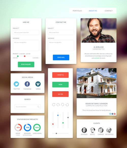 Flat Icons and Web Elements for UI Design-26
