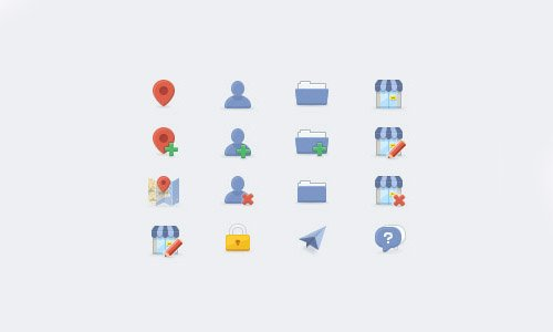 Flat Icons and Web Elements for UI Design-7