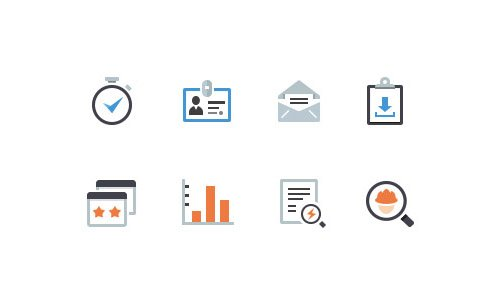 Flat Icons and Web Elements for UI Design-18
