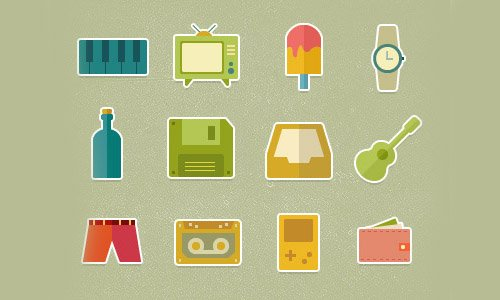 Flat Icons and Web Elements for UI Design-20