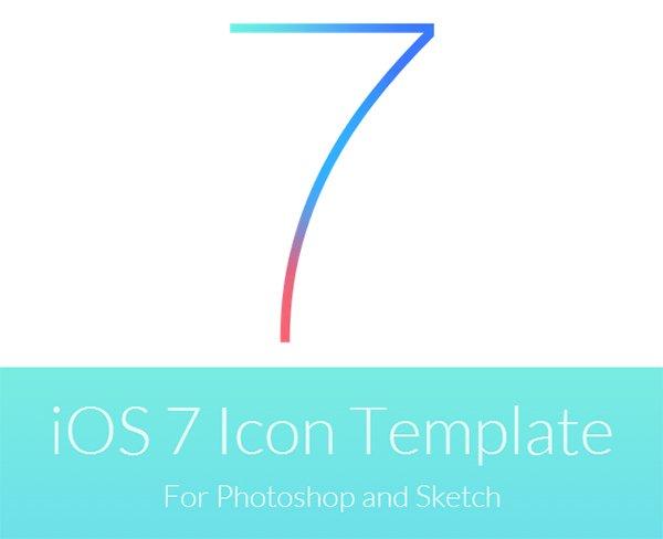 1.iOS7应用图标模板(PSD,用于Photoshop和Sketch)
