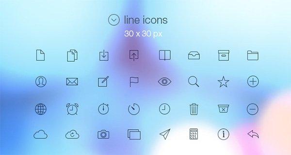 iOS7功能图标第一集(PSD、AI、EPS,多尺寸)