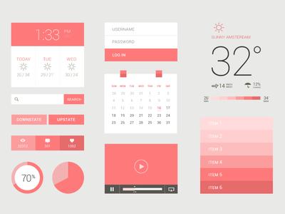 Freebie PSD: Flat / UI Kit