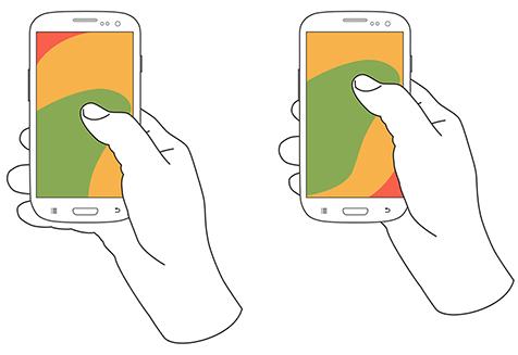 触摸屏手机的方式