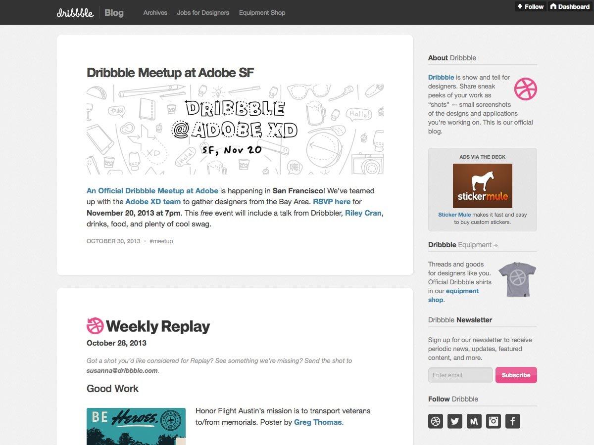 dribbble blog
