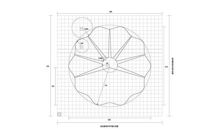 教你如何画圈圈—–标识设计中辅助参考线入门p3
