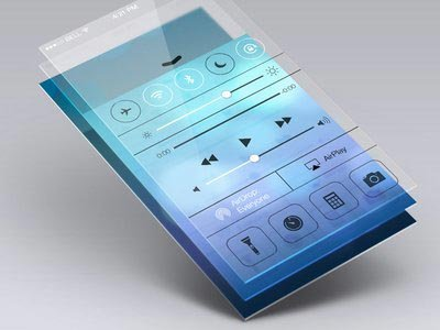 Transparency app mockup ui设计