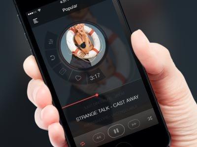 Music player app @2x ui设计