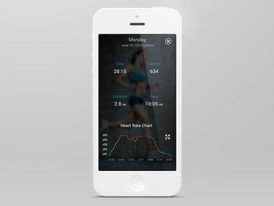 Fitness tracker ui设计