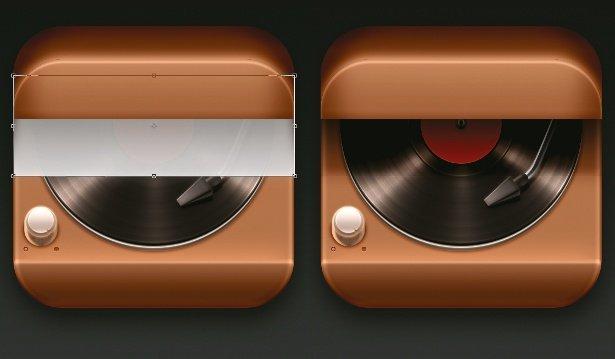 一个写实风格唱机图标的设计思路