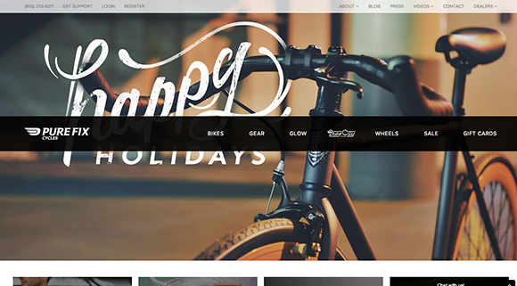 A great example of providing clear incite of content is PureFixCycles.com