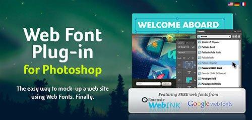 Web Font Photoshop插件
