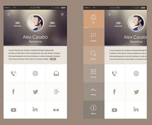 Univit UI by Mohammed Alyousfi & Alex Casabo 菜单设计 APP设计