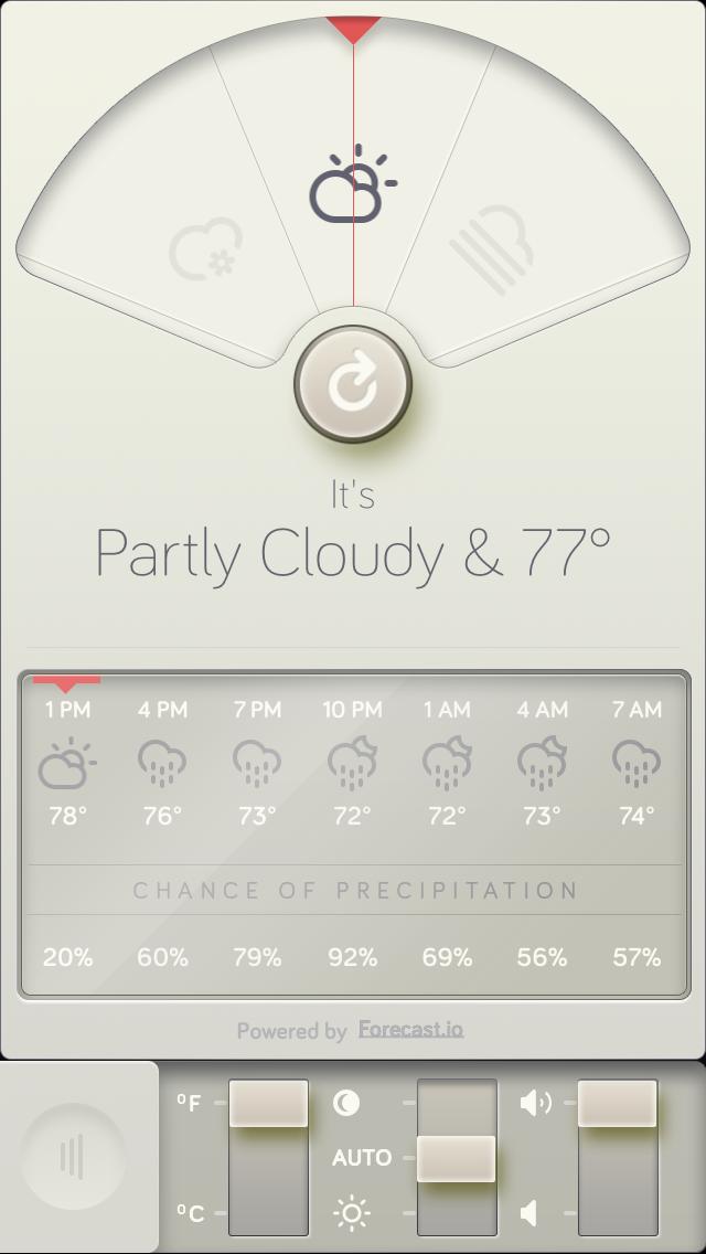晴耕雨读:天气类iPhone App设计欣赏