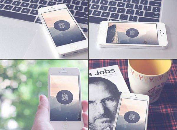iphone5-realistic-mockups-psd 模板 模板 素材