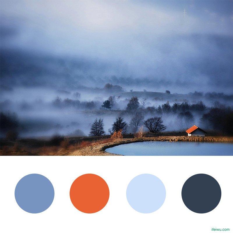 从图片吸取灵感的手机网页设计配色方案