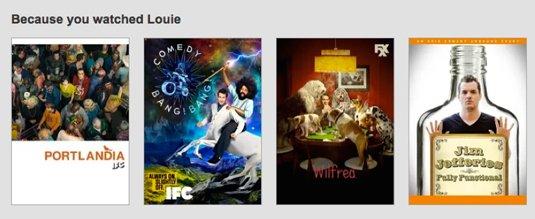 Netflix Related Content widget