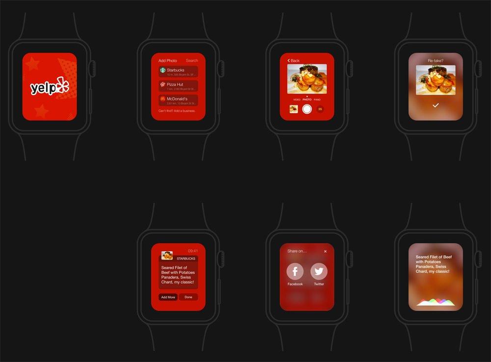 精品App Watch模板+UI组件免费下载Apple Watch App Concept