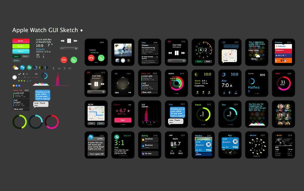 精品App Watch模板+UI组件免费下载7