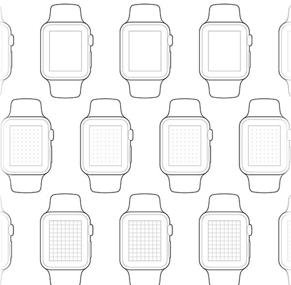 Apple Watch Paper Wireframes
