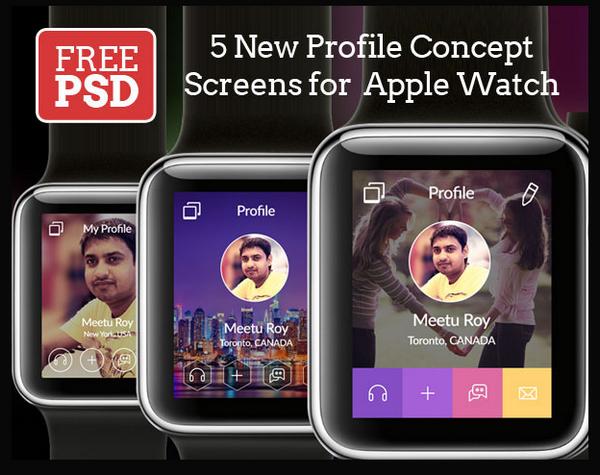 超实用的APPLE WATCH 模板免费下载77