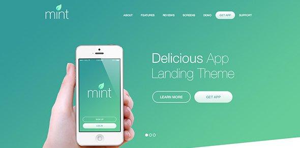 Delicious-App-Landing-WordPress-Theme