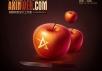 photoshop鼠绘苹果和水果刀详细教程