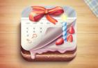 蛋糕日历iPhone APP图标设计