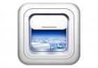 飞机窗icon图标设计