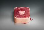 逼真的猪肉图标设计