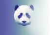 使用Photoshop繪(hui)制低多邊形(xing)星空效果熊(xiong)貓頭(tou)像
