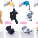 日本正品 niconico 猫咪iPhone5/5s 毛球小猫咪 耳机防尘塞