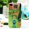 几米iphone彩绘磨砂夜光手机壳