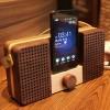 Wooden Dock Galuxy S3 NOTE专用手工黑檀木质小音箱