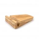 iPad/iPhone梯形底座 床头懒人手机支架 竹木