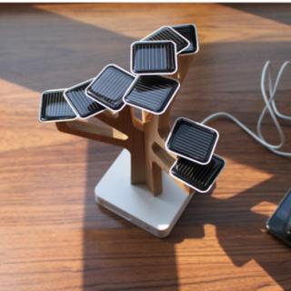 荷兰 XD Design树形太阳能充电器 iphone5 手机充电器 创意礼物