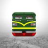 东风绿皮火车头图标设计